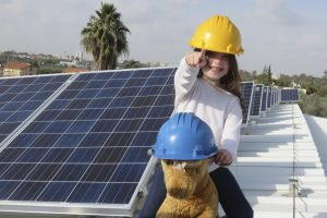 Efficiency Projects-Solar Panels with Girl